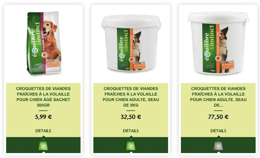 varietes croquette
