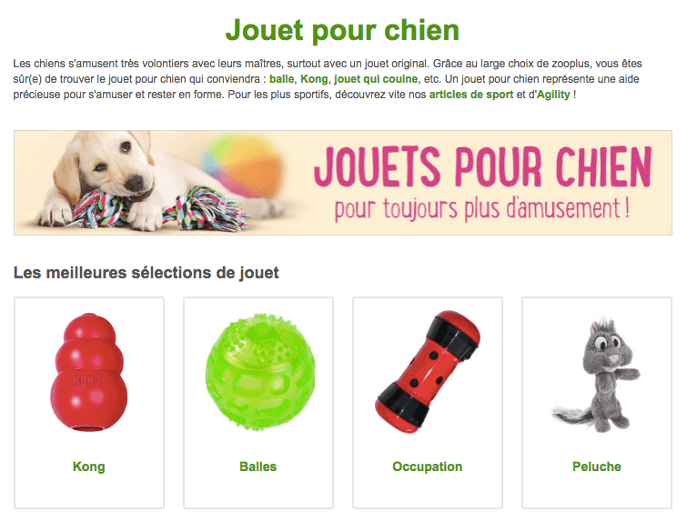 jouets pour chien promo zooplus